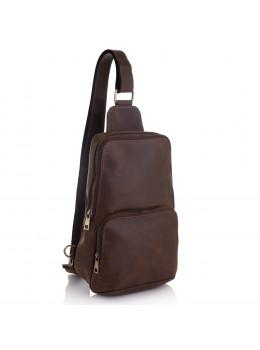 Коричнева вінтажна шкіряна сумка через плече Newery N41719KC
