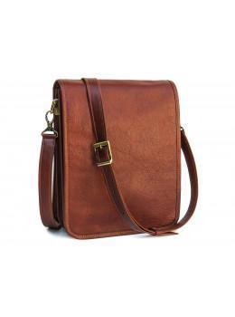Рыжая кожаная сумка через плечо Newery N4227GCR