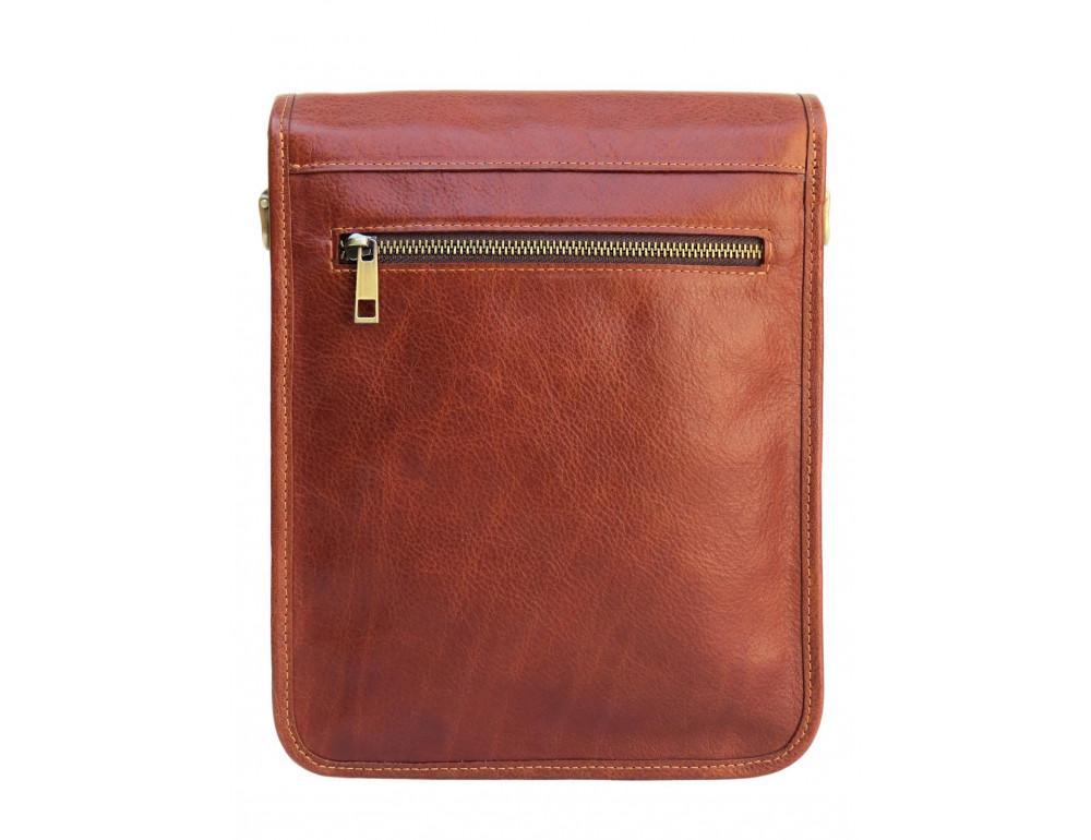 Рыжая кожаная сумка через плечо Newery N4227GCR - Фото № 2
