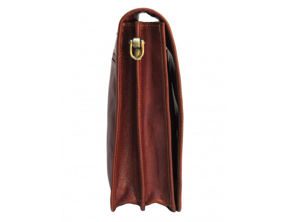 Рыжая кожаная сумка через плечо Newery N4227GCR - Фото № 3