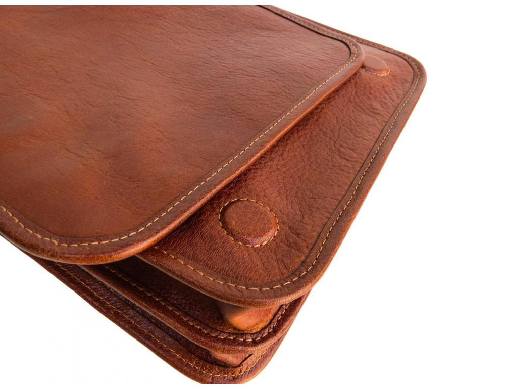 Рыжая кожаная сумка через плечо Newery N4227GCR - Фото № 9