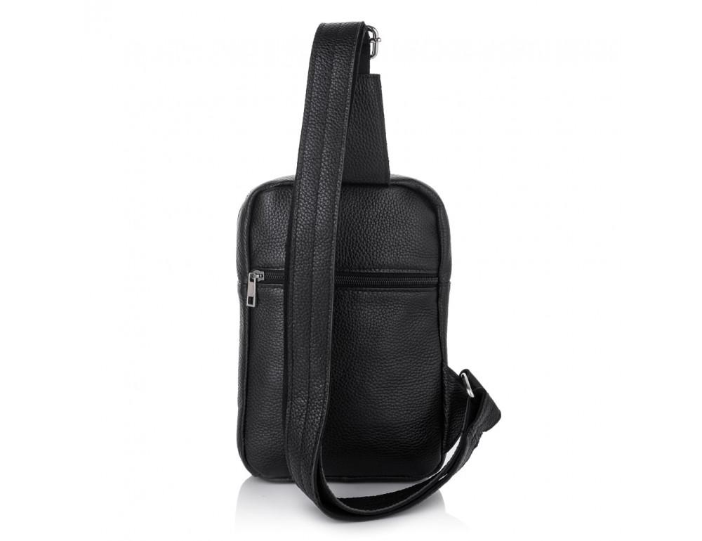Чёрная кожаная сумка через плечо Newery N6896FA - Фото № 3
