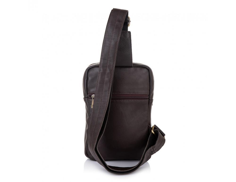 Коричневая кожаная сумка через плечо Newery N6896GC - Фото № 4