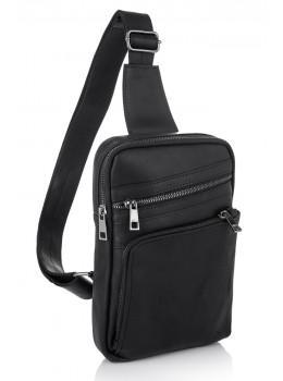 Чорна шкіряна сумка-рюкзак NEWERY N6896KA