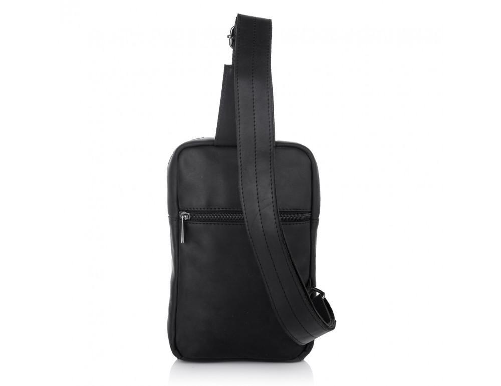 Чёрная кожаная сумка-рюкзак NEWERY N6896KA - Фото № 4