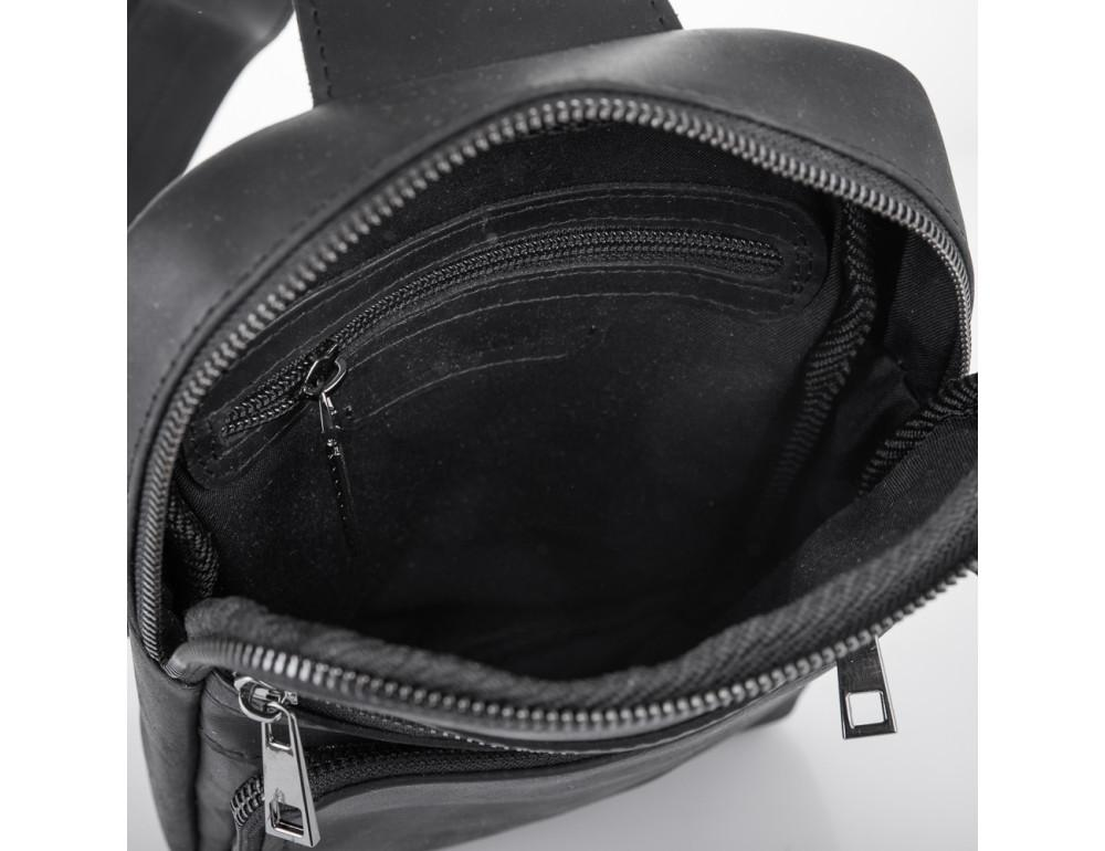 Чёрная кожаная сумка-рюкзак NEWERY N6896KA - Фото № 6