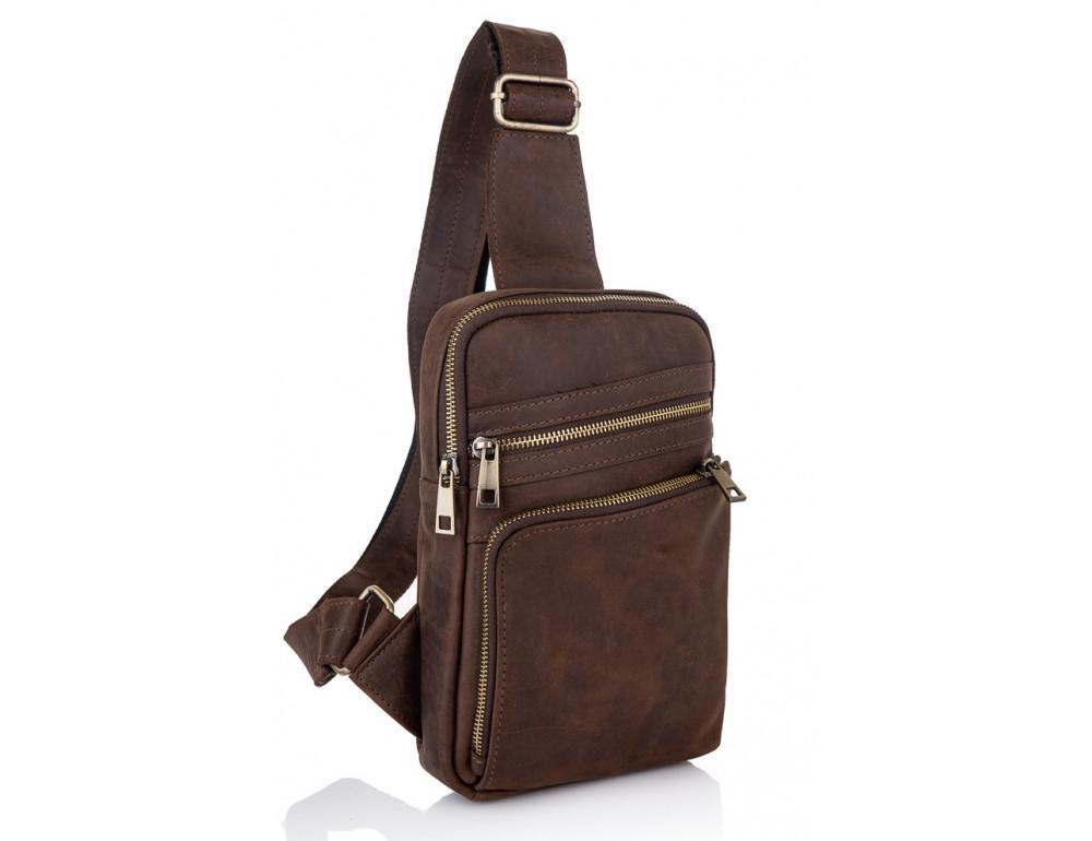 Коричневая сумка через плечо Newery N6896KC - Фото № 1