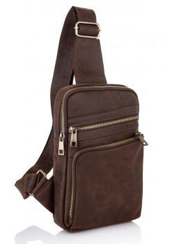 Коричневая сумка через плечо Newery N6896KC