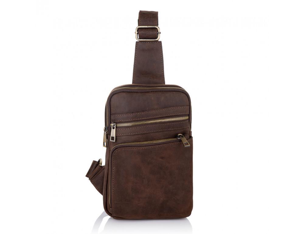 Коричневая сумка через плечо Newery N6896KC - Фото № 3