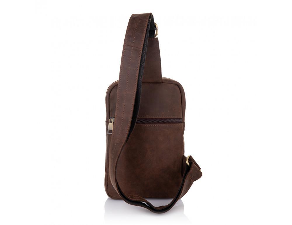 Коричневая сумка через плечо Newery N6896KC - Фото № 4