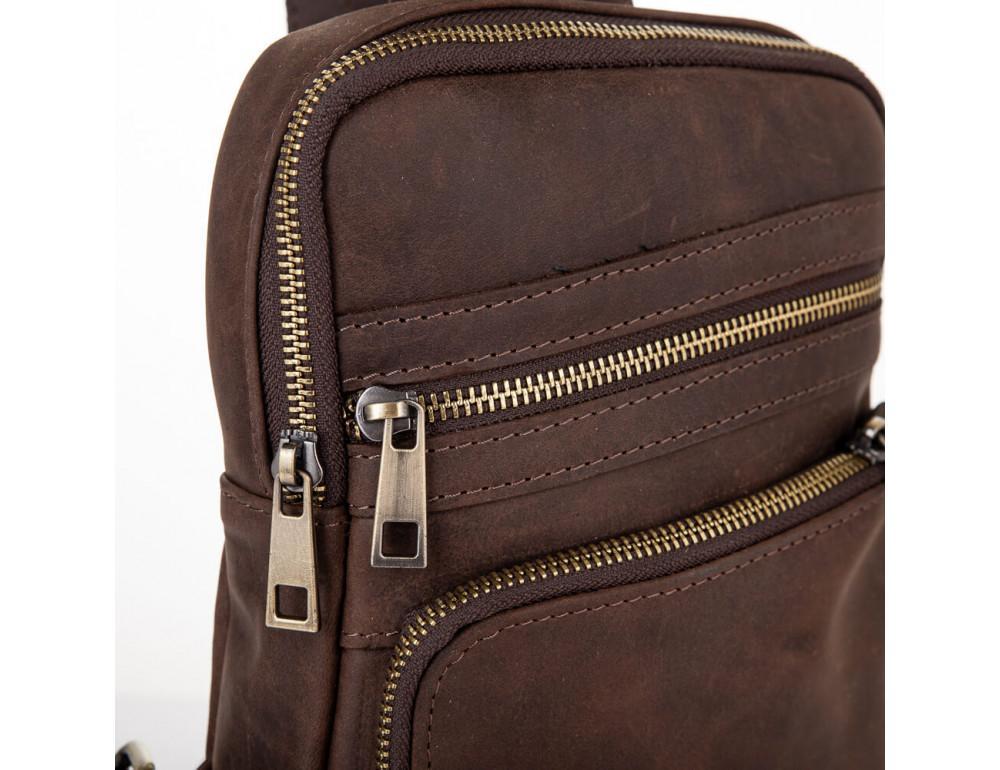 Коричневая сумка через плечо Newery N6896KC - Фото № 5