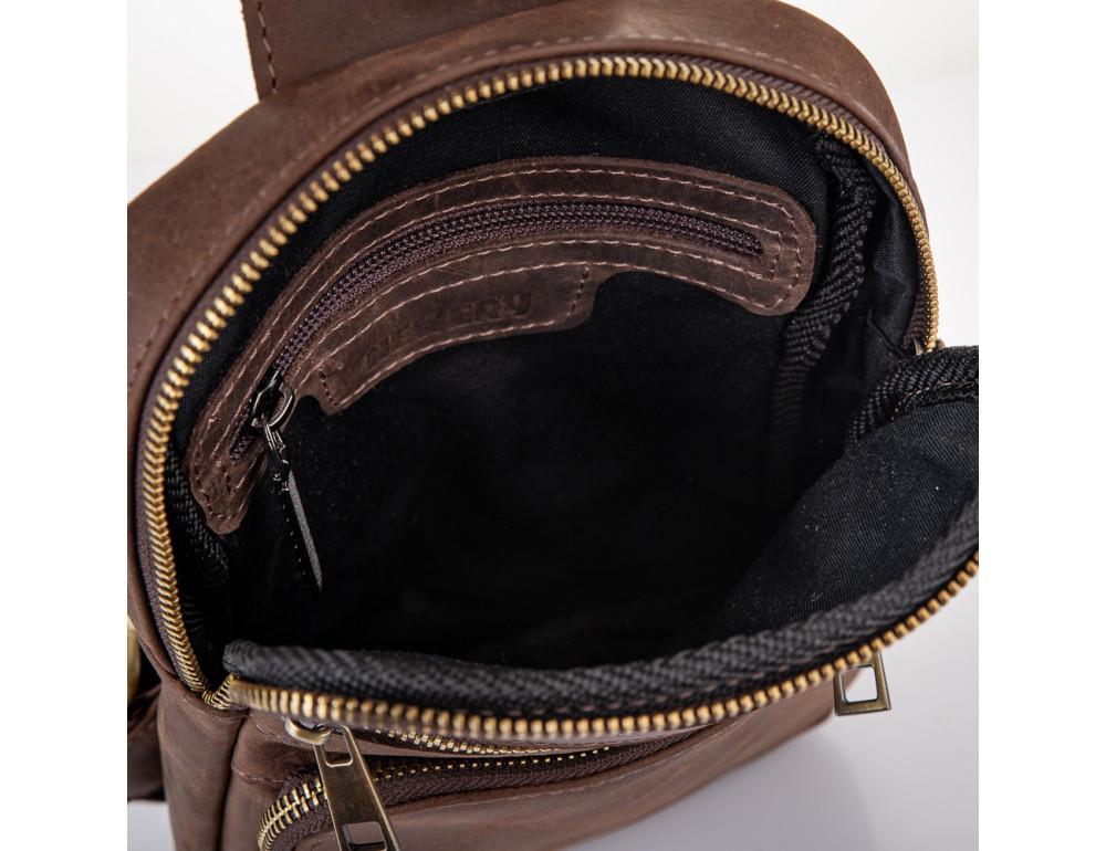 Коричневая сумка через плечо Newery N6896KC - Фото № 6