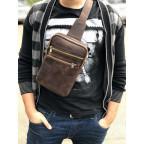 Коричневая сумка через плечо Newery N6896KC - Фото № 101