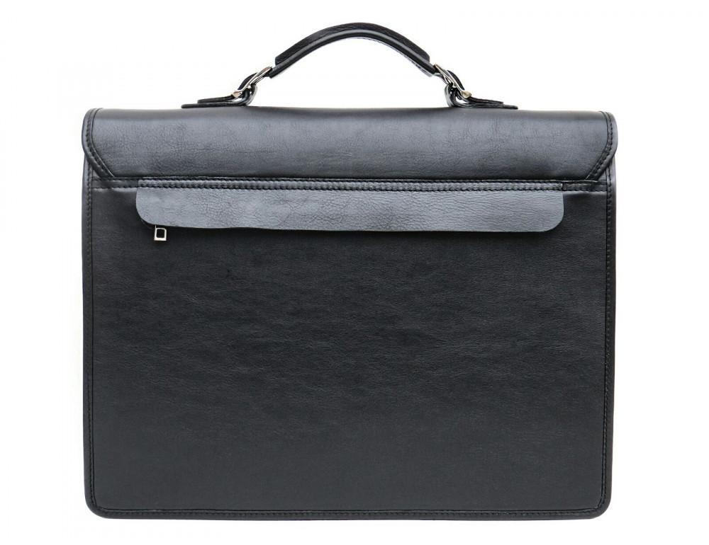 Чорний солідний шкіряний портфель Newery N7164GA - Фотографія № 2