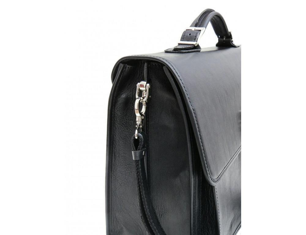 Чорний солідний шкіряний портфель Newery N7164GA - Фотографія № 5