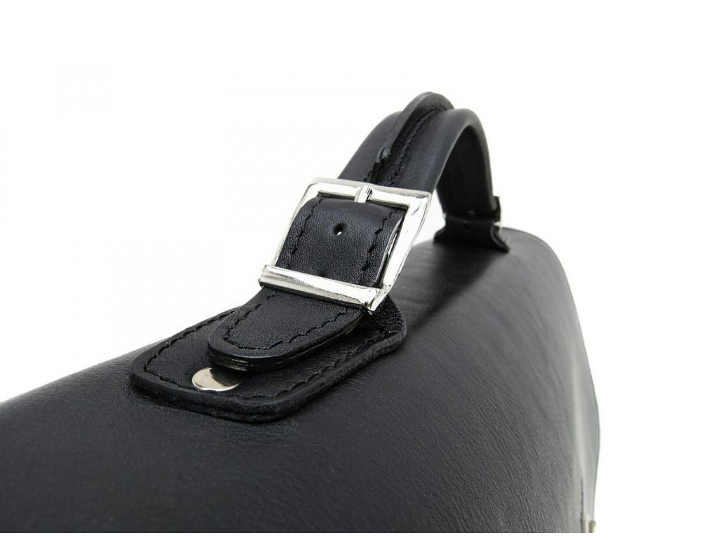Чорний солідний шкіряний портфель Newery N7164GA - Фотографія № 9