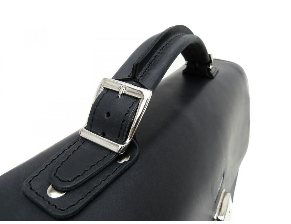 Большой мужской портфель из лошадиной кожи Newery N7164KA - Фото № 4