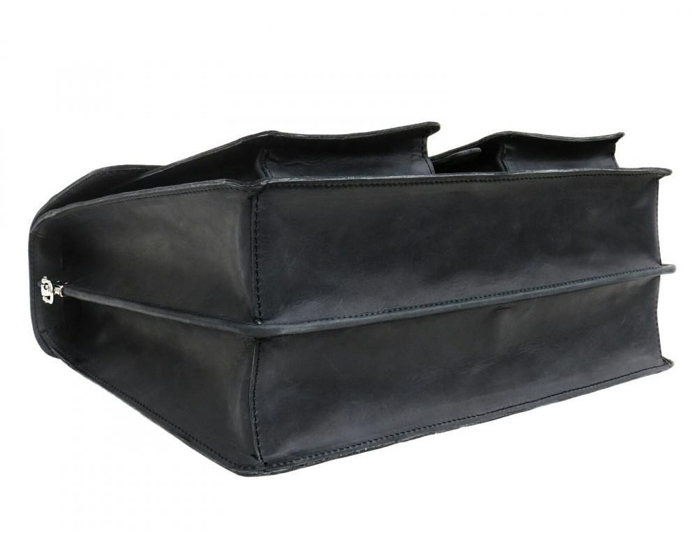 Большой мужской портфель из лошадиной кожи Newery N7164KA - Фото № 5