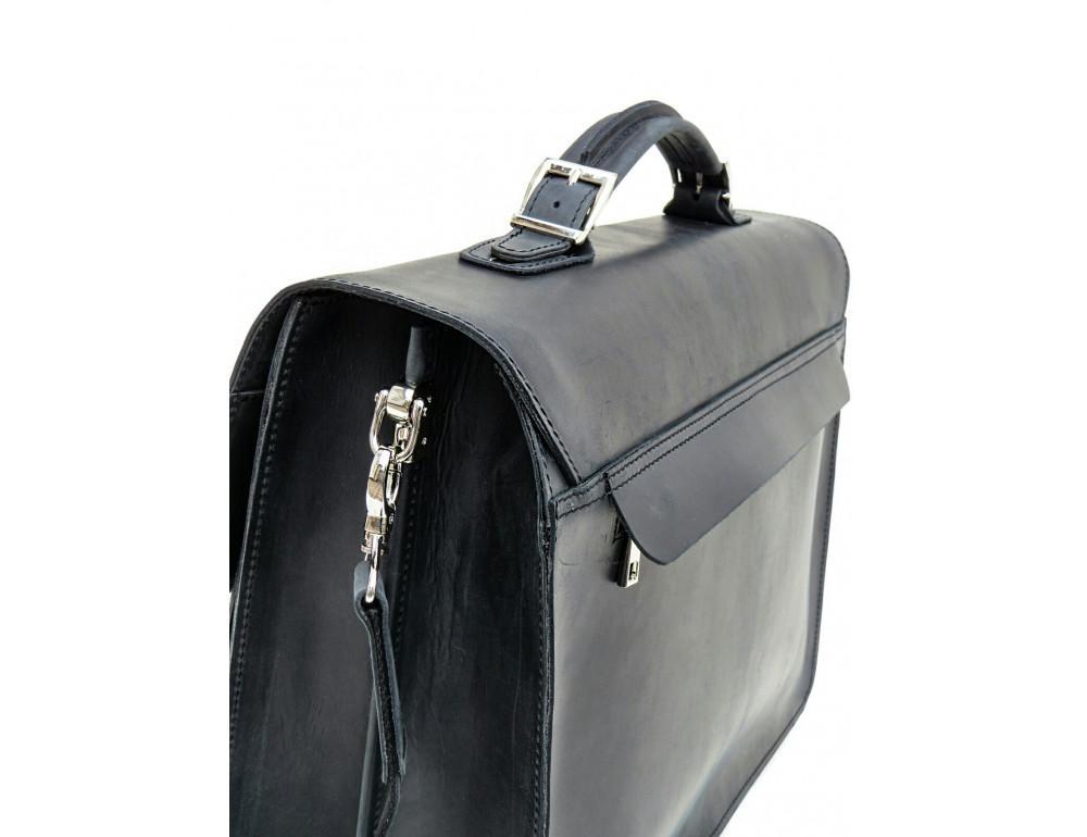 Большой мужской портфель из лошадиной кожи Newery N7164KA - Фото № 6