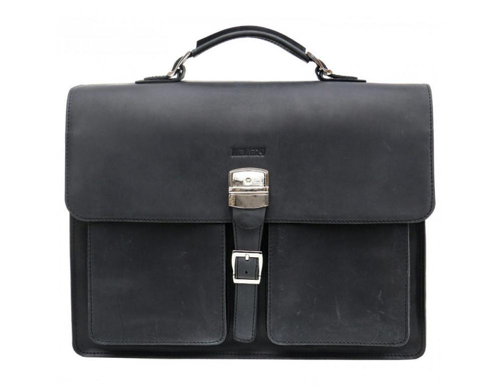 Большой мужской портфель из лошадиной кожи Newery N7164KA - Фото № 1