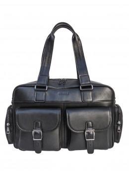 Мужская кожаная сумка с большими ручками Newery N7381GA