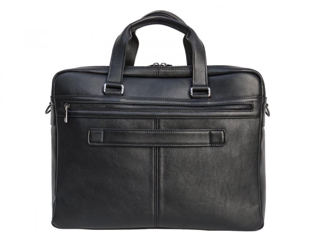 Мужская кожаная сумка на два отделения большого размера Newery N7526GA - Фото № 2