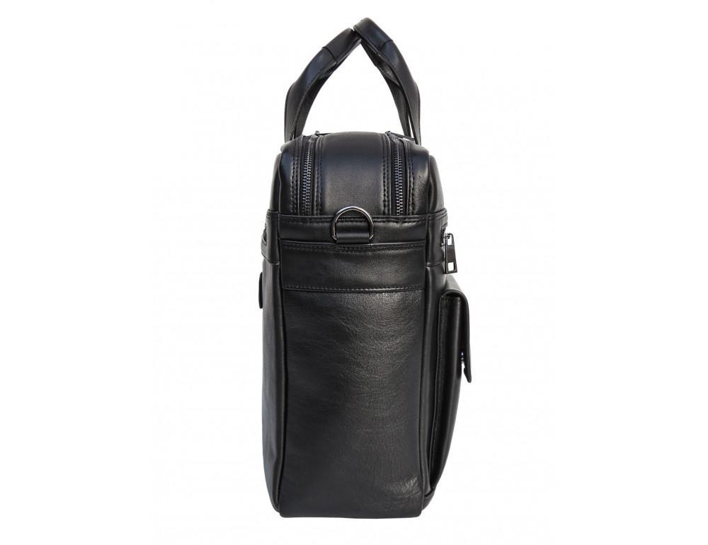 Мужская кожаная сумка на два отделения большого размера Newery N7526GA - Фото № 3