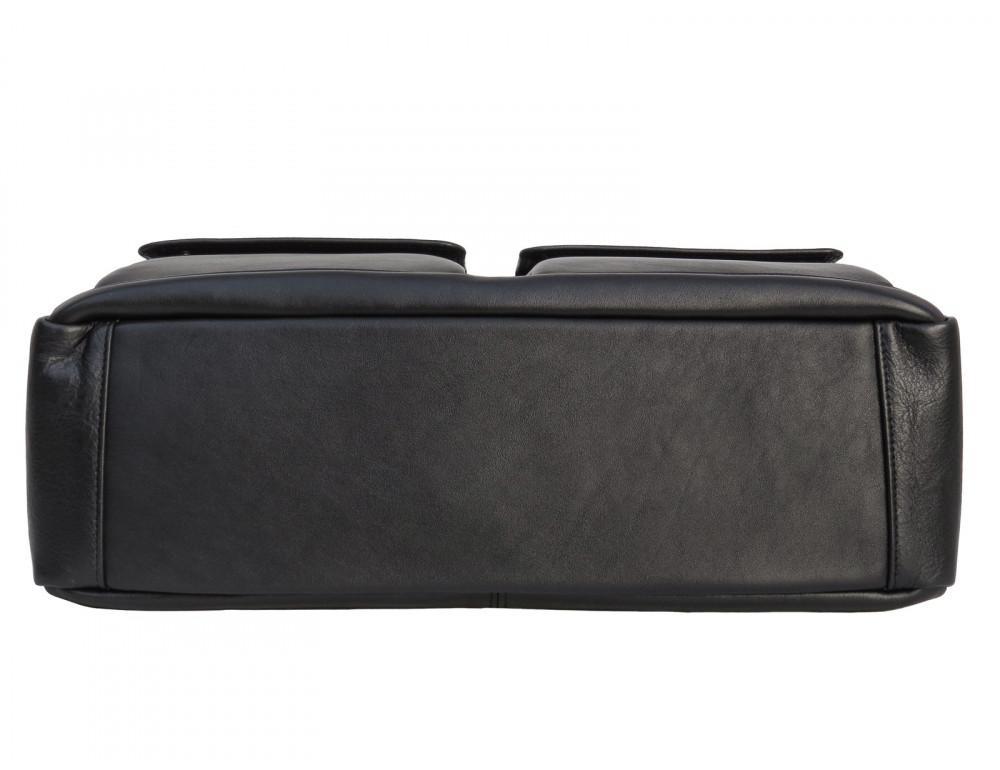 Мужская кожаная сумка на два отделения большого размера Newery N7526GA - Фото № 5