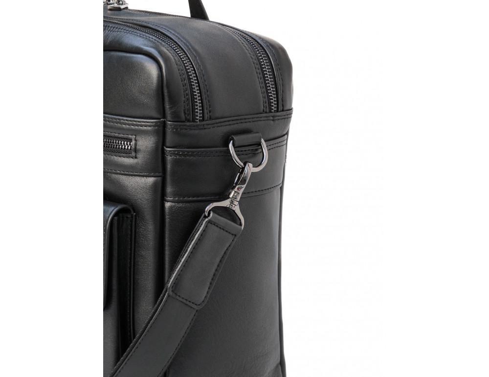 Мужская кожаная сумка на два отделения большого размера Newery N7526GA - Фото № 6