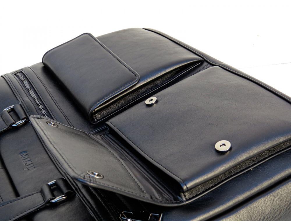 Мужская кожаная сумка на два отделения большого размера Newery N7526GA - Фото № 7