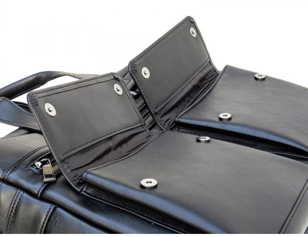 Мужская кожаная сумка на два отделения большого размера Newery N7526GA - Фото № 8