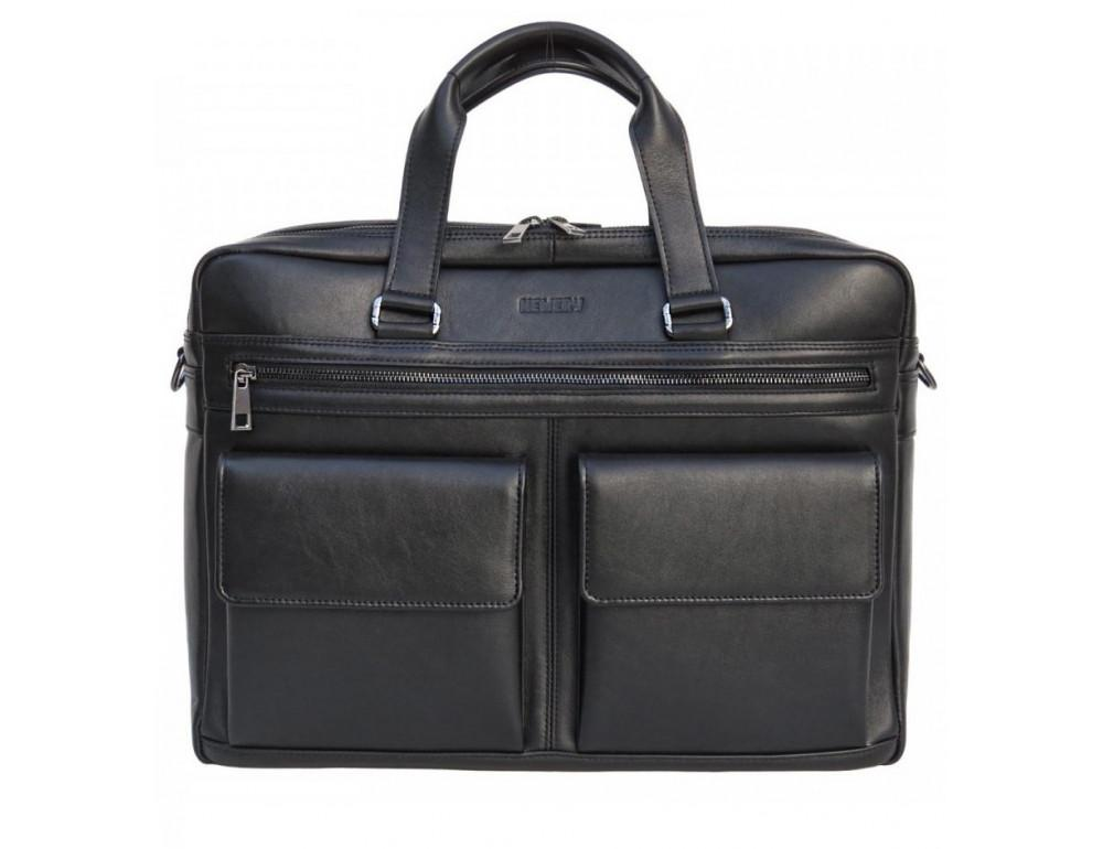 Мужская кожаная сумка на два отделения большого размера Newery N7526GA - Фото № 1