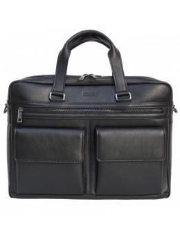 Чоловіча шкіряна сумка на два відділення великого розміру Newery N7526GA