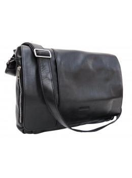 Велика шкіряна сумка через плече під ноутбук 15.6 і документи Newery N8128GA