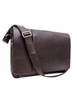 Коричнева шкіряна сумка-месенджер на 15.6 дюймів Newery N8128GC