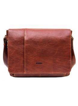 """Рыжая кожаная сумка мессенджер на 15.6"""" Newery N8128GCR"""