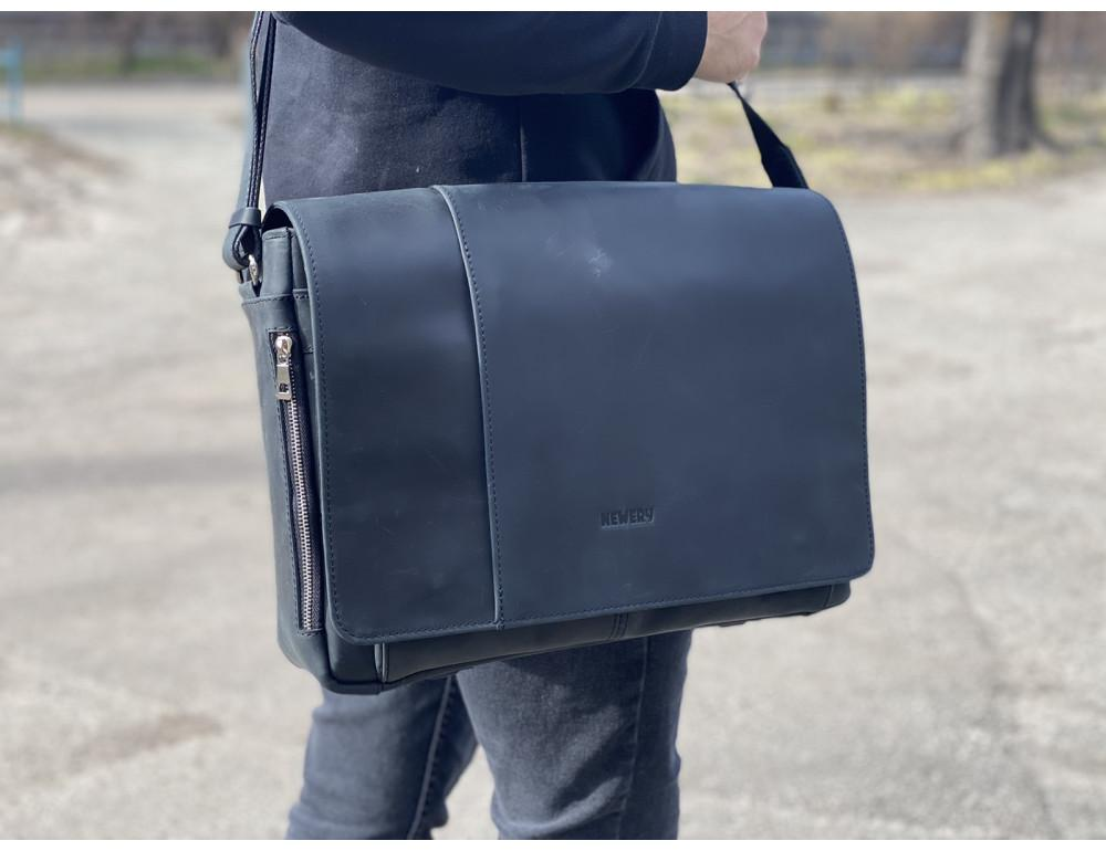 Большая мужская сумка через плечо Newery N8128KA - Фото № 2