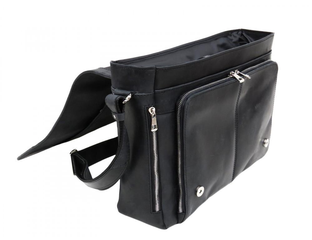 Большая мужская сумка через плечо Newery N8128KA - Фото № 7