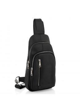 Чорна сумка слінг з кінської шкіри Newery N9012KGA
