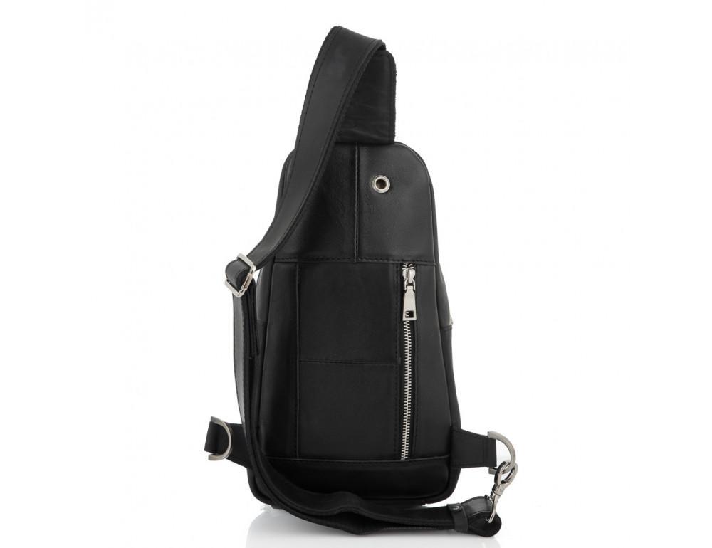 Чёрная сумка слинг из лошадиной кожи Newery N9012KGA - Фото № 4
