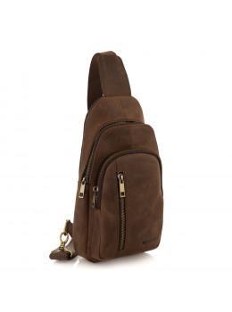 Коричнева сумка слінг з кінської шкіри Newery N9012KGC