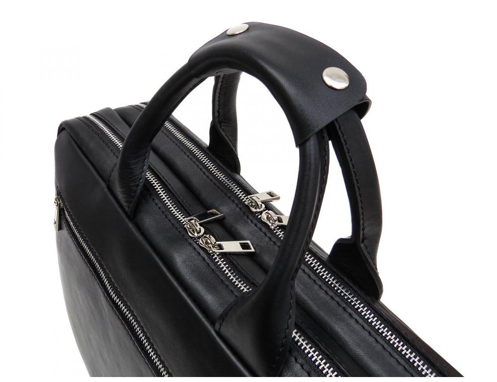 Мужской кожаный портфель Newery N9523GA - Фото № 7
