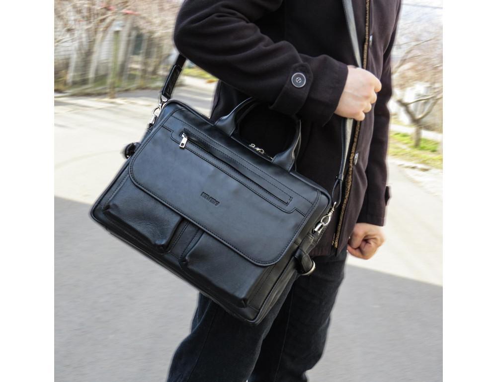 Мужской кожаный портфель Newery N9523GA - Фото № 2