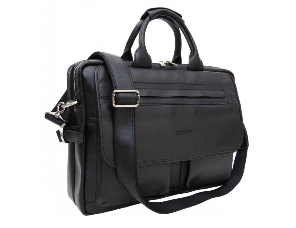 Мужской кожаный портфель Newery N9523GA - Фото № 1
