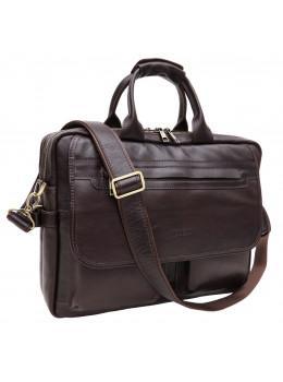 Молодіжний шкіряний портфель коричневого кольору Newery N9523GC