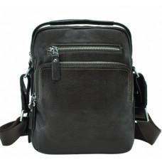 Тёмно-коричневый кожаный мессенджер Tiding Bag NM17-0097-2C