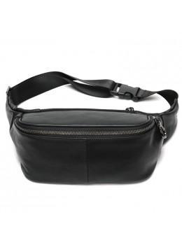 Чорна шкіряна сумка на пояс Tiding Bag NZC9066A