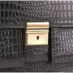 Добротный мужской портфель из кожи под рептилию Manufatto ПАВ-25 кроко - Фото № 106