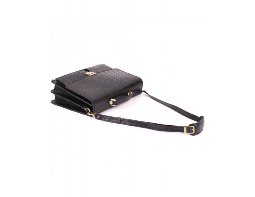 Добротный мужской портфель из кожи под рептилию Manufatto ПАВ-25 кроко - Фото № 8