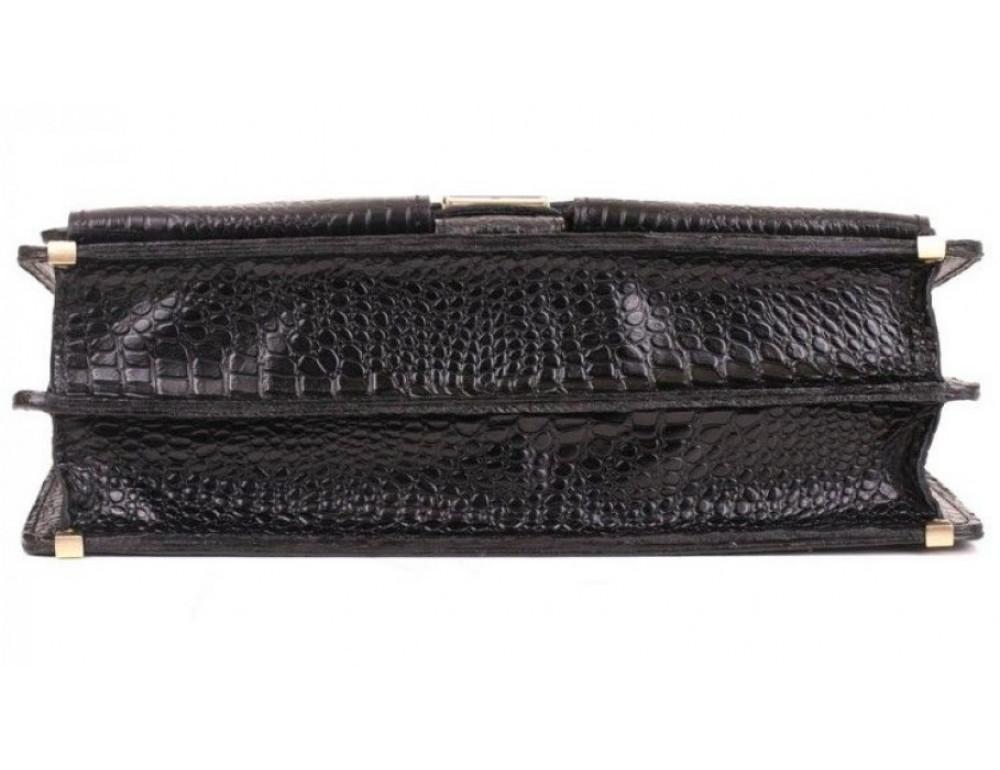 Добротный мужской портфель из кожи под рептилию Manufatto ПАВ-25 кроко - Фото № 6
